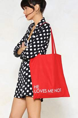 Nasty Gal He Loves Me Tote Bag