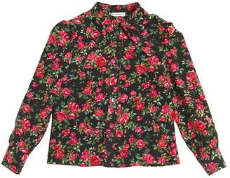 Dolce & Gabbana Roses Printed Silk Crepe De Chine Shirt