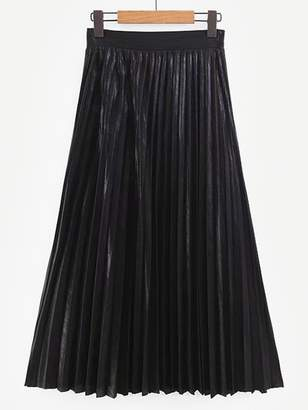 Shein Pleated Solid Skirt