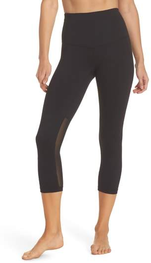 'Live In - Sultry' High Waist Mesh Crop Leggings