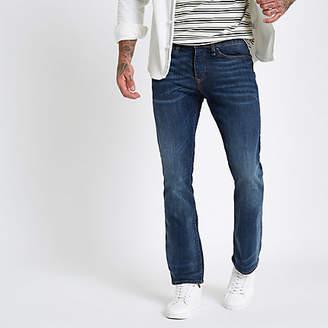 River Island Dark blue Clint bootcut jeans