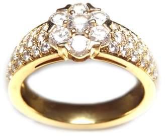 Van Cleef & Arpels Van Cleef and Arpels 18K Yellow Gold Fleurette 3 Row Diamond Ring
