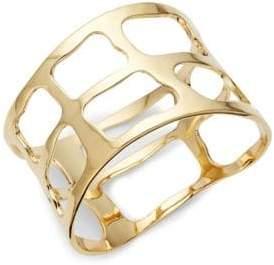 Plaid Wide Bangle Bracelet