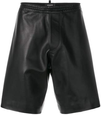 DSQUARED2 leather stripe shorts