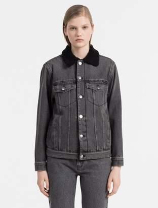 Calvin Klein sherpa trucker jacket