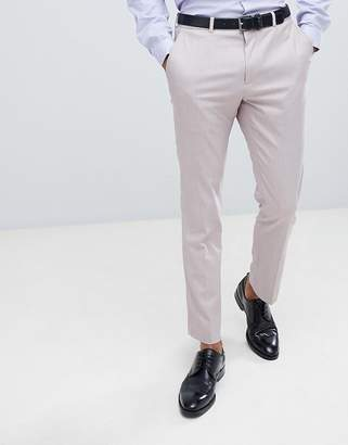 Burton Menswear Textured Suit Pants In Pink