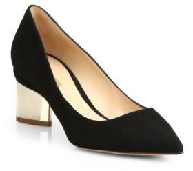 Nicholas Kirkwood Prism Suede Point Toe Pumps $595 thestylecure.com