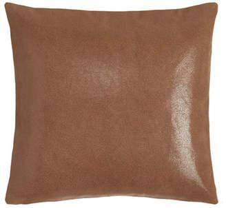 "Donna Karan Home Awakening Leather Pillow, 16""Sq."