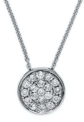 Effy Diamond And 14K White Gold Pendant Necklace
