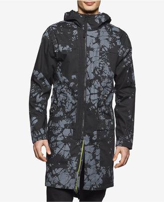 Calvin Klein Men's Slim-Fit Splash-Print Hooded Coat $228 thestylecure.com
