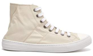 Maison Margiela - Stereotype Canvas High Top Trainers - Mens - Beige