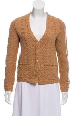 Loro Piana Cashmere Cable Knit Cardigan