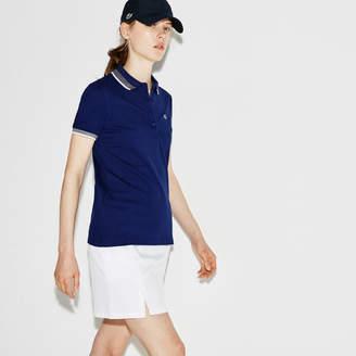 Lacoste Women's SPORT Golf Contrast Accent Stretch Mini Piqué Polo