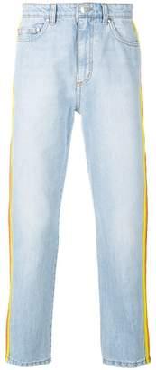 MSGM side stripe straight-leg jeans