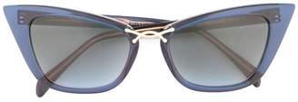 Oscar de la Renta oversized cat eye sunglasses