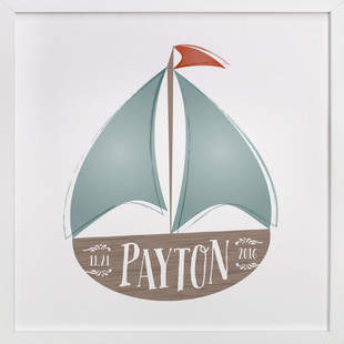 Set Sail Children's Custom Art Print