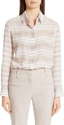 Altuzarra Sheer Stripe Silk Blouse