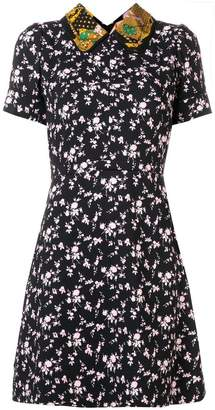 No.21 floral embroidered flared dress