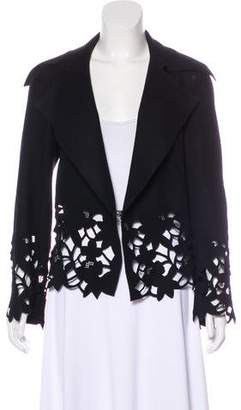 Robert Rodriguez Wool Laser Cut Jacket