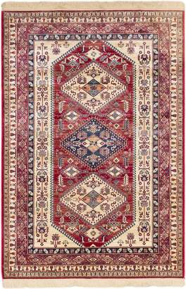 "Ecarpetgallery 183733 Shiravan Rug Cream, Red, 5'1"" X 7'7"""