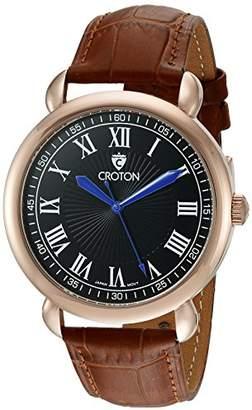 Croton Men's CN307532BRBK HERITAGE Analog Display Quartz Brown Watch