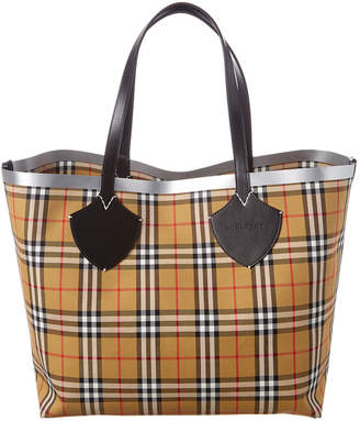 838cc9d011 Burberry Giant Reversible Vintage Check & Leather Tote