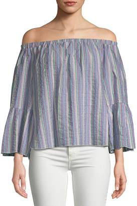 See by Chloe Women's Off-The-Shoulder Bell-Sleeve Top