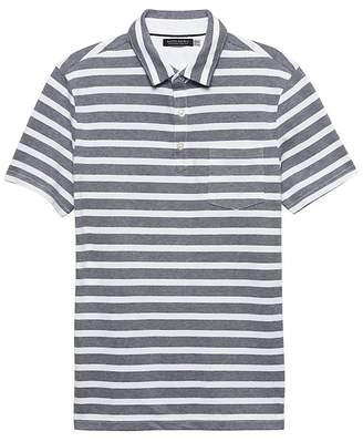 Banana Republic Don't-Sweat-It Mariner Stripe Polo