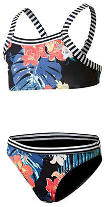 Roxy Girls Island Trip Crop Top Bikini Set