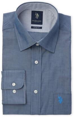 U.S. Polo Assn. Chambray Slim Fit Dress Shirt