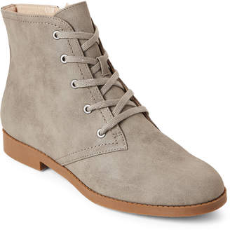Indigo Rd Grey Abelly Lace-Up Ankle Boots