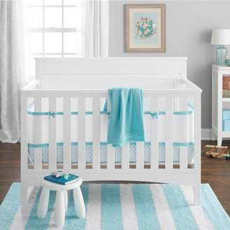 BreathableBaby Breathable Baby Embossed Quatrefoil 4-pc. Crib Bedding Set