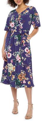 Rabbit Rabbit Rabbit DESIGN Design Short Sleeve Floral Shift Dress