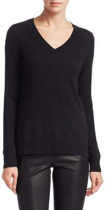 Saks Fifth Avenue Featherweight Cashmere V-Neck Sweater