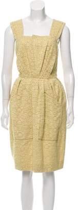Chloé Lace Midi Dress Yellow Chloé Lace Midi Dress