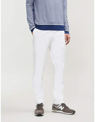 Canali Regular-fit straight stretch-cotton trousers
