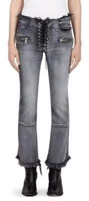 Lace-Up Jeans