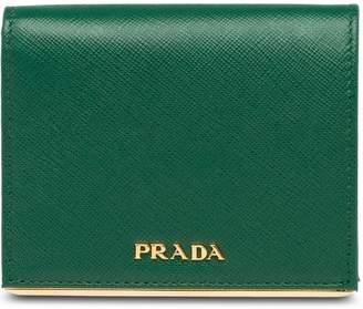 Prada logo bi-fold wallet