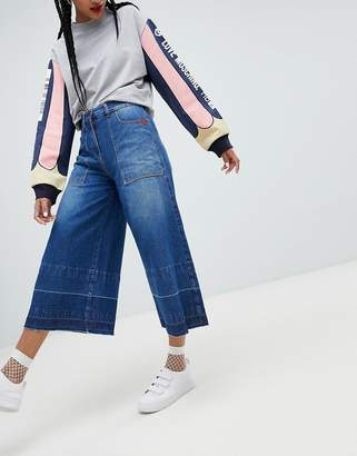 Love Moschino Flared Culotte Jeans