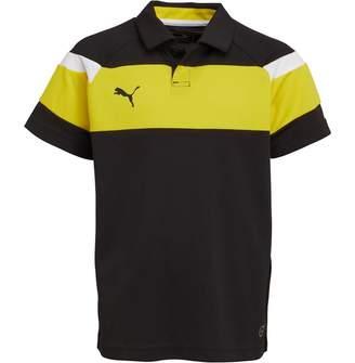Puma Junior Boys Spirit II Leisure Polo Black/Yellow
