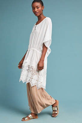 Anthropologie Lupe Embroidered Caftan