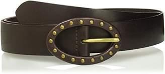 House of Boho Studded Center Bar Buckle 100% Leather Belt