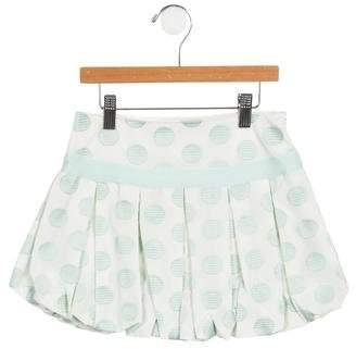 MonnaLisa Girls' Pleated Polka Dot Skirt