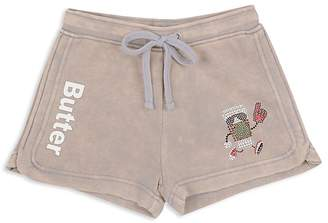 Butter Shoes Girls' Takeout Appliqué Fleece Shorts - Big Kid
