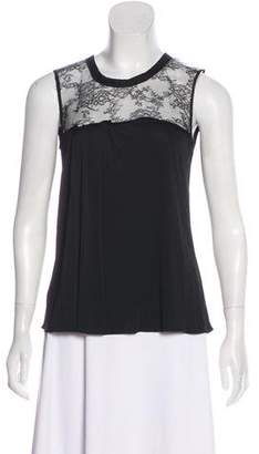 Nina Ricci Lace-Trimmed Sleeveless Top