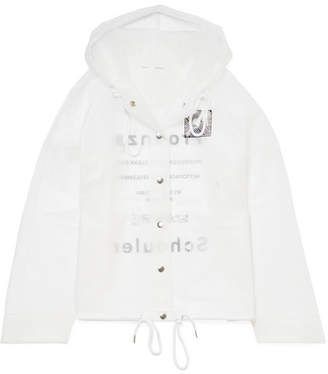 Proenza Schouler Pswl Printed Shell Raincoat - White