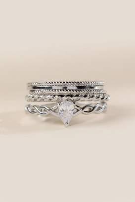 francesca's Brielle Cubic Zirconia Ring Set - Silver