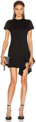Area Side Peplum Skater Dress in Black | FWRD