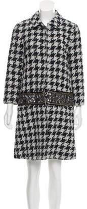 Gryphon Embellished Tweed Coat