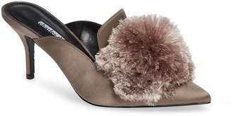 Charles David Adelle Pompom Loafer Mule